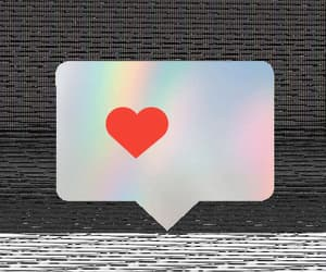 app, heart, and messaging image