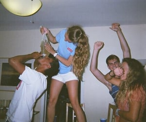 party, friends, and 90s image