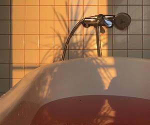 aesthetic, bath, and peach image