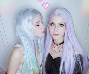 best friends, hair, and makeup image