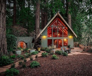 architecture, cabin, and design image