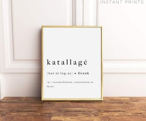 etsy, inspirational print, and katallage print image
