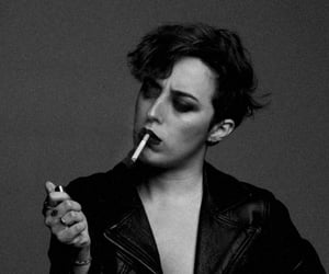 blackandwhite, model, and cigarette image
