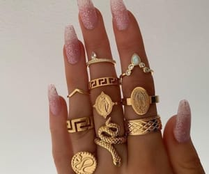 accessories, rings, and uñas image