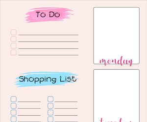 free, girly, and planner image