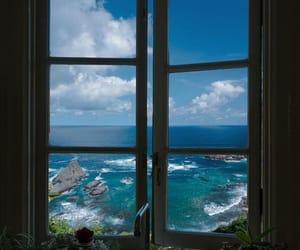 sea, window, and aesthetic image