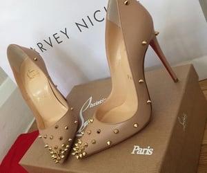 fashion, heel, and gold image