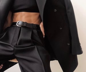 black, classy, and style image
