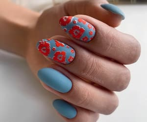 blue, style, and nail inspo image