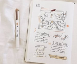 journal, bujo, and bullet journal image