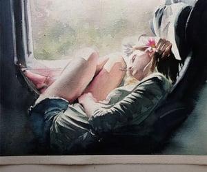 art, sleeping, and girl image