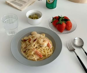 fish, food, and pasta image