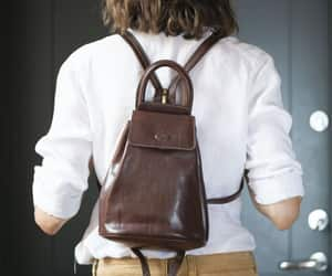 etsy, leather backpack, and women backpack image