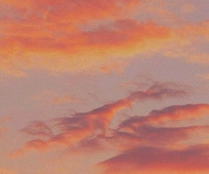 aesthetic, sky, and orange image