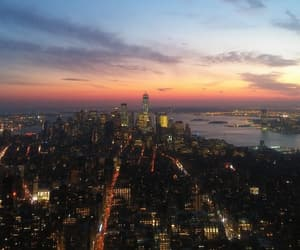 cities, sunset, and travel image