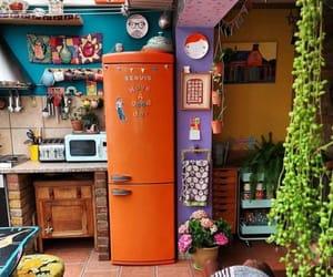 decor, kitchen, and plants image
