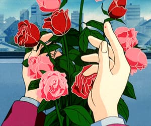 anime and rose image