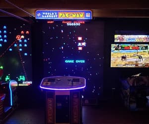 arcade, blue, and game image