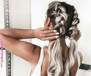 beautiful hair, braids, and hair image