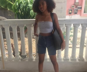 black girl, curly hair, and Caribbean image