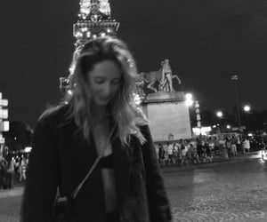 b&w, black and white, and eiffel tower image