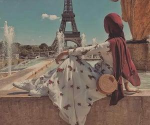 beautiful women, fashion make up, and hijab حجاب محجبات image