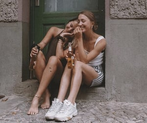 drink, friendship, and girls image