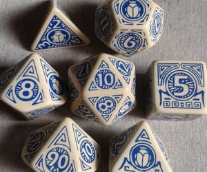 blue, gamer, and dice image