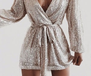 dress, sequin dress, and forever21 image