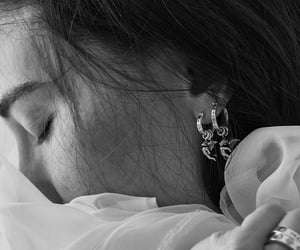 earrings, silver, and style image