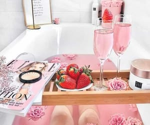 pink, bath, and relax image