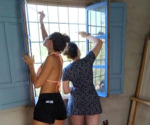 art, bathingsuit, and blue image