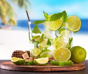 beach, lemon, and mint image