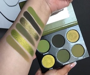eye shadow, green, and palette image