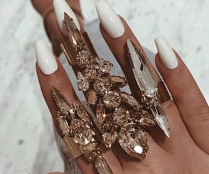 beautiful, diamonds, and manicure image