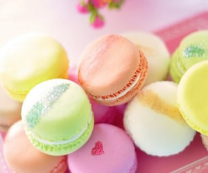 background, macaroons, and pink image