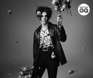 black and white, flowers, and gq image