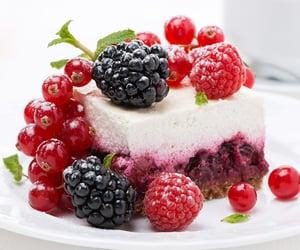berries, dessert, and sugar glaze image