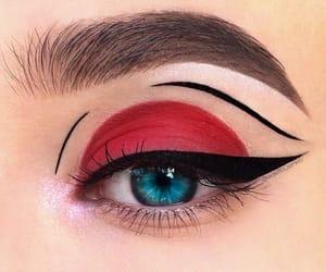 eye, makeup, and liner image