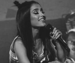 live, ariana grande, and thinking bout you image