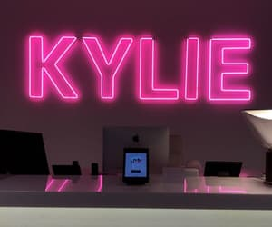 neon, pink, and kylie jenner image