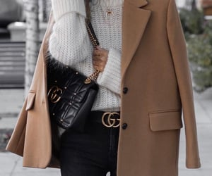 bag, coat, and womenswear image