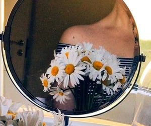 flowers and mirror image