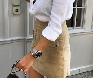 chanel, mango, and skirt image