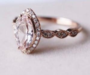 diamond ring, engagement, and jewerly image