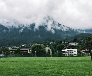 clouds, green, and mountain image