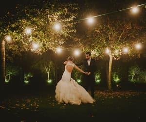 beautiful, groom, and lights image