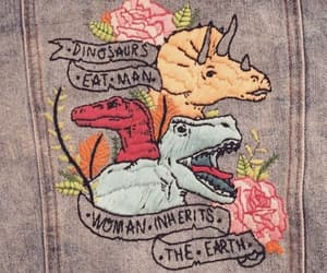 dinosaur and embroidery image