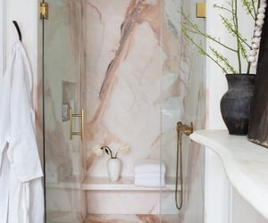 bathroom, home, and pink image
