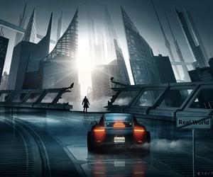city, reality, and fantasy image